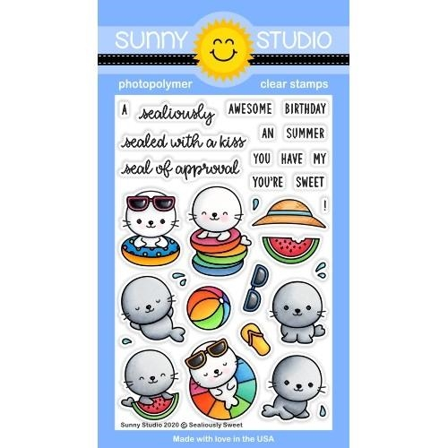Sunny Studio SEALIOUSLY SWEET Clear Stamps SSCL-265 Preview Image