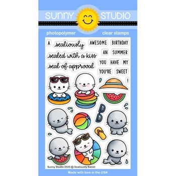 Sunny Studio SEALIOUSLY SWEET Clear Stamps SSCL-265