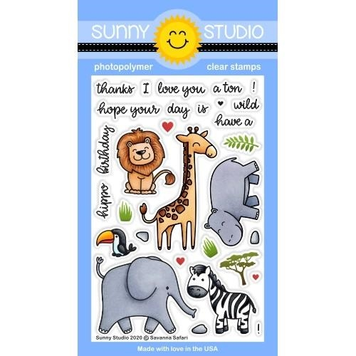 Sunny Studio SAVANNA SAFARI Clear Stamps SSCL-266 Preview Image