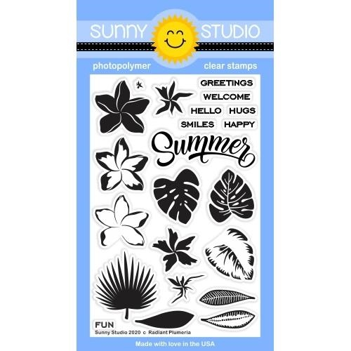 Sunny Studio RADIANT PLUMERIA Clear Stamps SSCL-268 zoom image