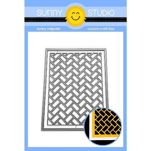 Sunny Studio FRILLY FRAMES HERRINGBONE Die SSDIE-201 Preview Image