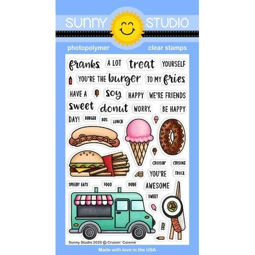 Sunny Studio CRUISIN CUSINE Clear Stamps SSCL-264 Preview Image