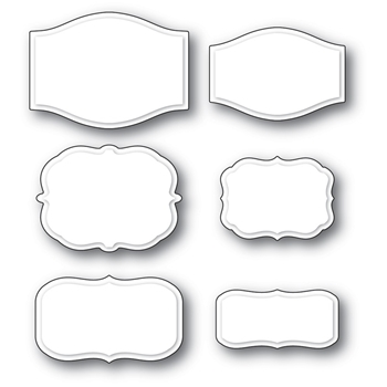 Poppy Stamps COLWELL LABEL SET Craft Dies 2325