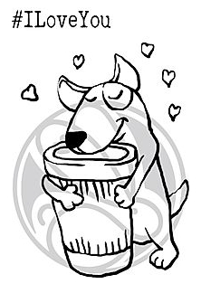 The Rabbit Hole Designs CAFFEINATED TERRIER Clear Stamps TRH-66