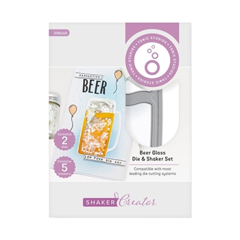 Tonic BEER GLASS Simple Shapes Die And Shaker Set 3360e