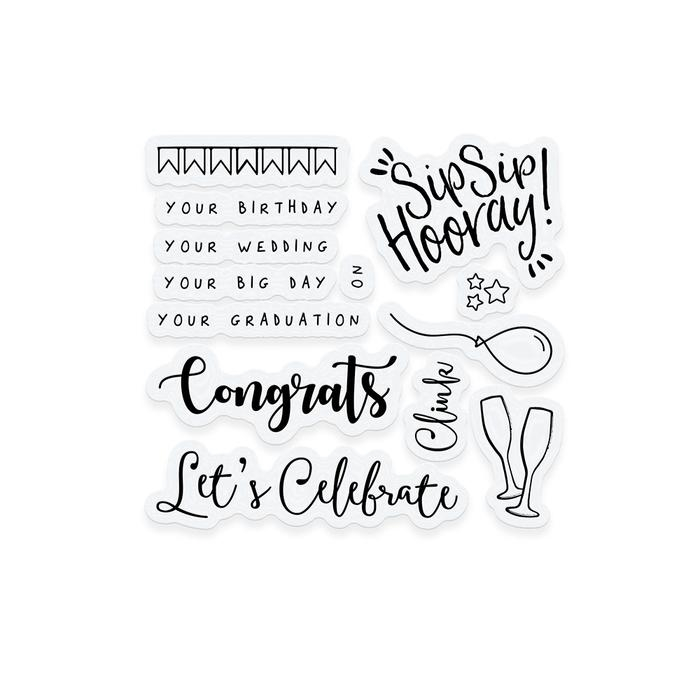 Tonic CELEBRATE Clear Stamp Set 3366e zoom image