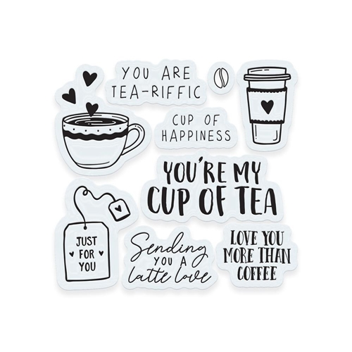 Tonic TEA AND COFFEE Clear Stamp Set 3374e Preview Image