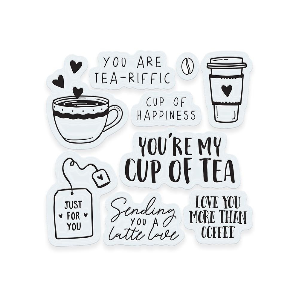 Tonic TEA AND COFFEE Clear Stamp Set 3374e zoom image