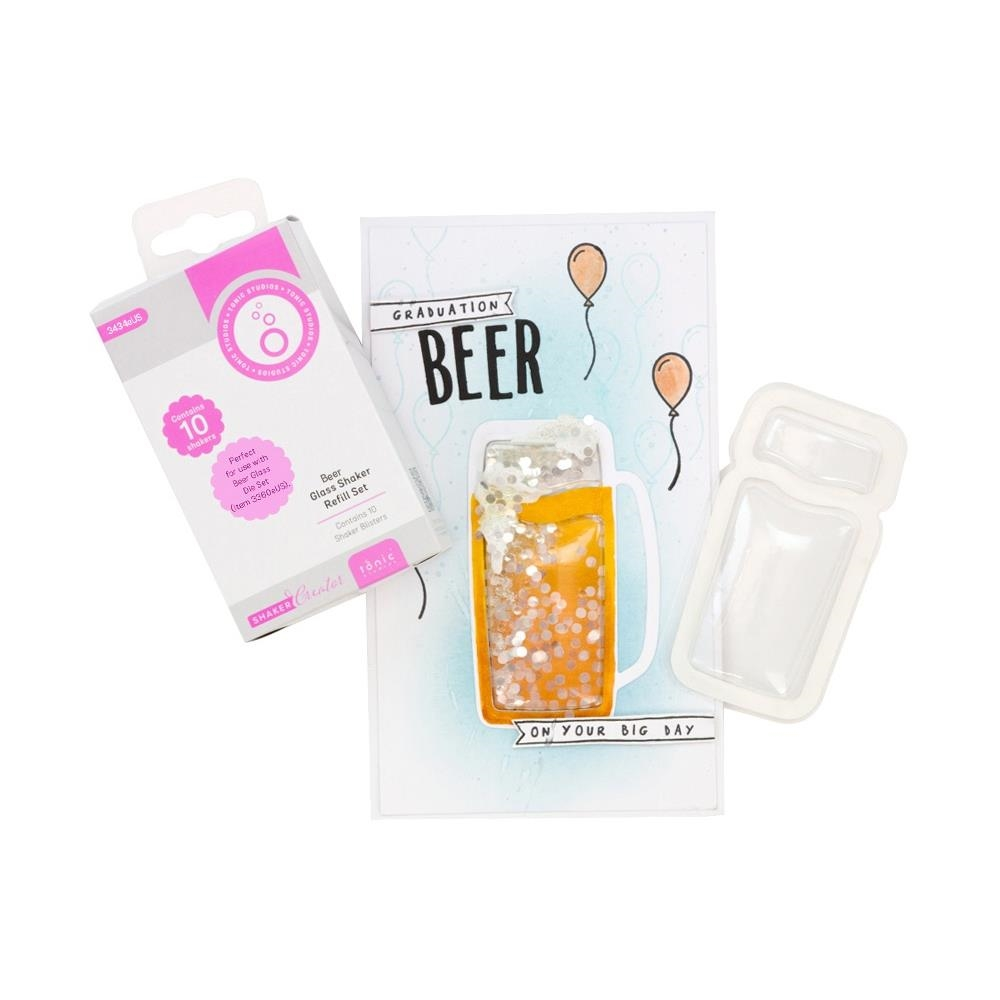 Tonic BEER GLASS Simple Shaker Refill Set 3434e zoom image