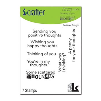 i-Crafter SCATTERED THOUGHTS Clear Stamps 222071