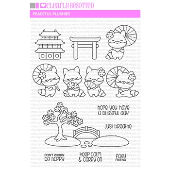 Clearly Besotted PEACEFUL PLUSHIES Clear Stamps