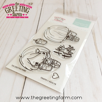 The Greeting Farm FRAPPE-Y ANYA Front and Back Clear Stamps tgf544