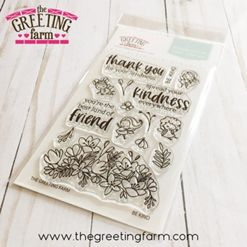 The Greeting Farm BE KIND Clear Stamps tgf547