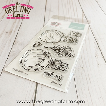 The Greeting Farm GIFT IAN Front and Back Clear Stamps tgf550