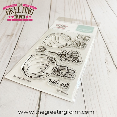 The Greeting Farm GIFT IAN Front and Back Clear Stamps tgf550 zoom image