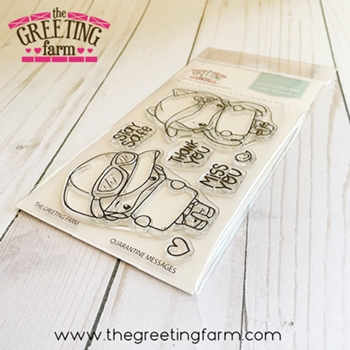 The Greeting Farm QUARANTINE MESSAGES Clear Stamps tgf549*