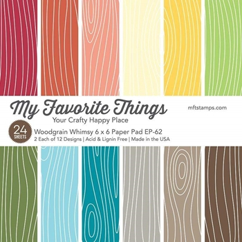 My Favorite Things WOODGRAIN WHIMSY 6x6 Inch Paper Pad 4828