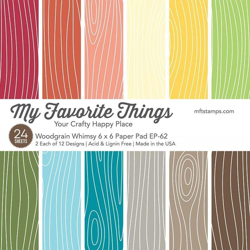 My Favorite Things WOODGRAIN WHIMSY 6x6 Inch Paper Pad 4828 zoom image