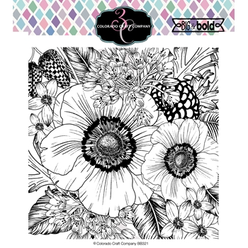 Colorado Craft Company Big and Bold ANEMONE AND ALIUM Clear Stamps BB321