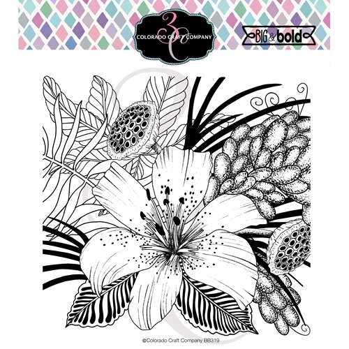 Colorado Craft Company Big and Bold DAYLILY AND BARBERRY Clear Stamps BB319 Preview Image