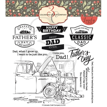 Colorado Craft Company Lovely Legs FATHER AND SON Clear Stamps LL318