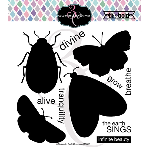 Colorado Craft Company Big and Bold INSECT SOLID Clear Stamps BB315 Preview Image