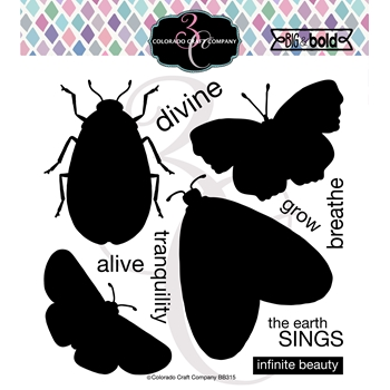 Colorado Craft Company Big and Bold INSECT SOLID Clear Stamps BB315