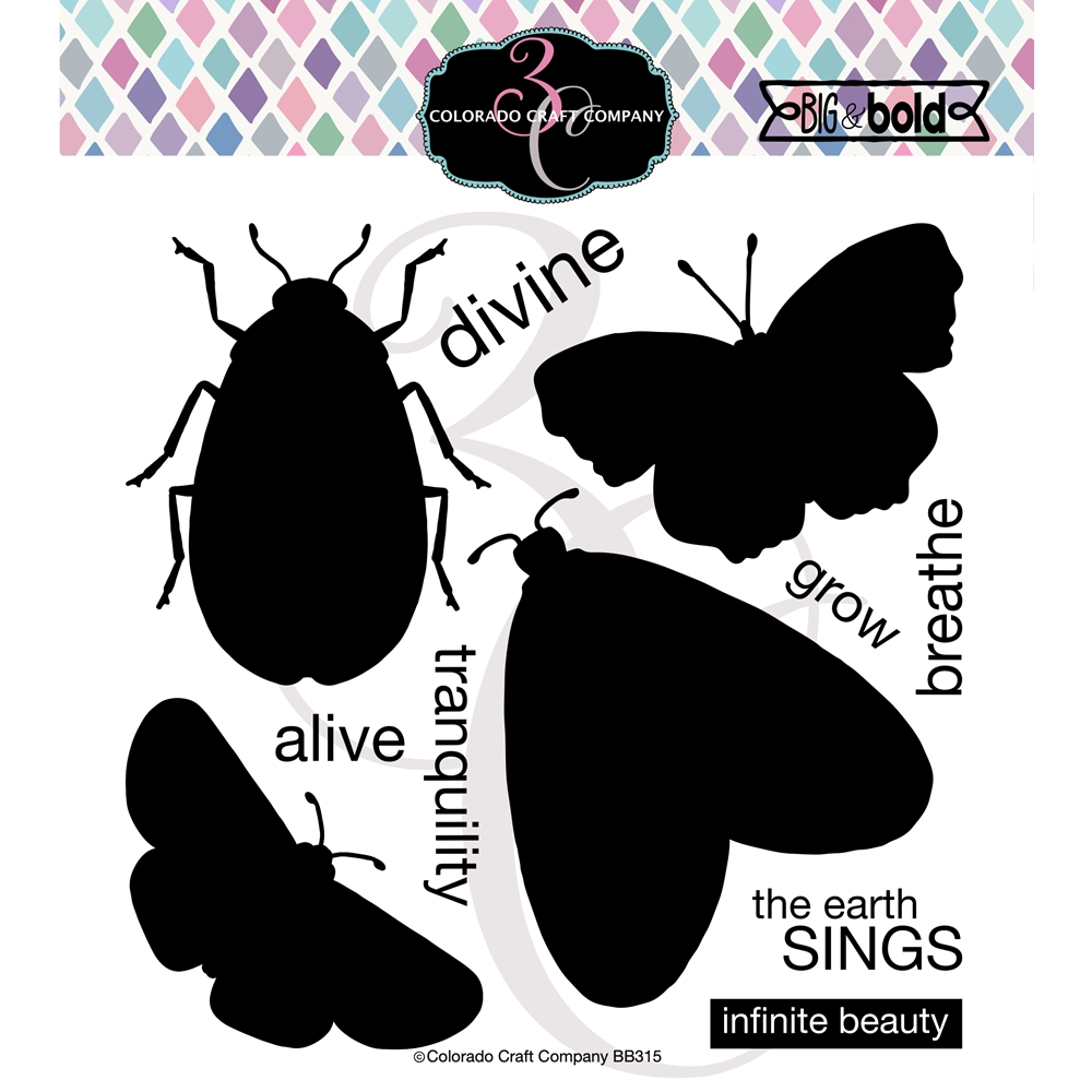 Colorado Craft Company Big and Bold INSECT SOLID Clear Stamps BB315 zoom image
