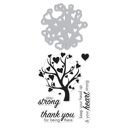 Hero Arts Stamp And Cuts HEART TREE Coordinating Set DC278 Preview Image