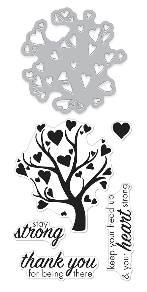 Hero Arts Stamp And Cuts HEART TREE Coordinating Set DC278 zoom image