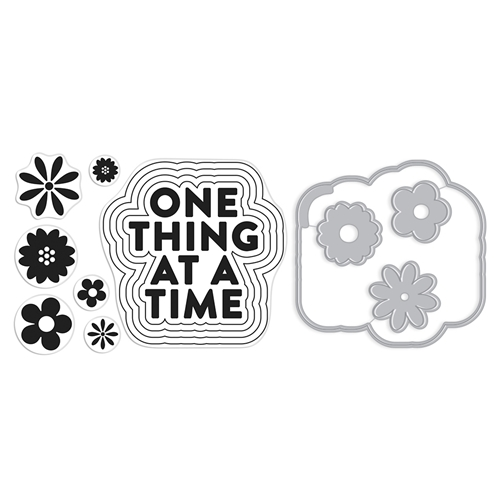 Hero Arts Stamp And Cuts ONE THING AT A TIME Coordinating Set DC277 Preview Image