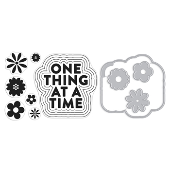 Hero Arts Stamp And Cuts ONE THING AT A TIME Coordinating Set DC277