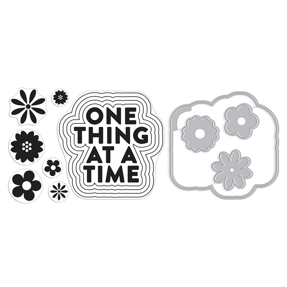 Hero Arts Stamp And Cuts ONE THING AT A TIME Coordinating Set DC277 zoom image