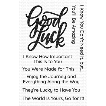 My Favorite Things GOOD LUCK GREETINGS Clear Stamps cs468