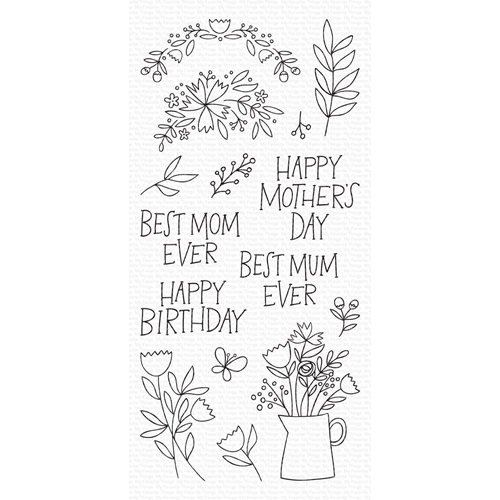 My Favorite Things MOTHER'S DAY BOUQUET Clear Stamps cs470 Preview Image