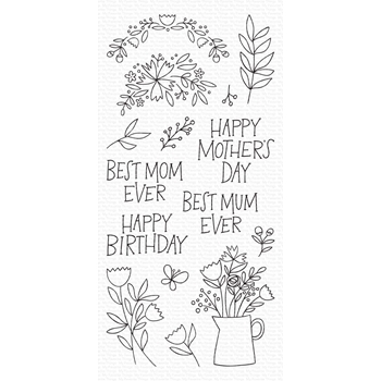 My Favorite Things MOTHER'S DAY BOUQUET Clear Stamps cs470
