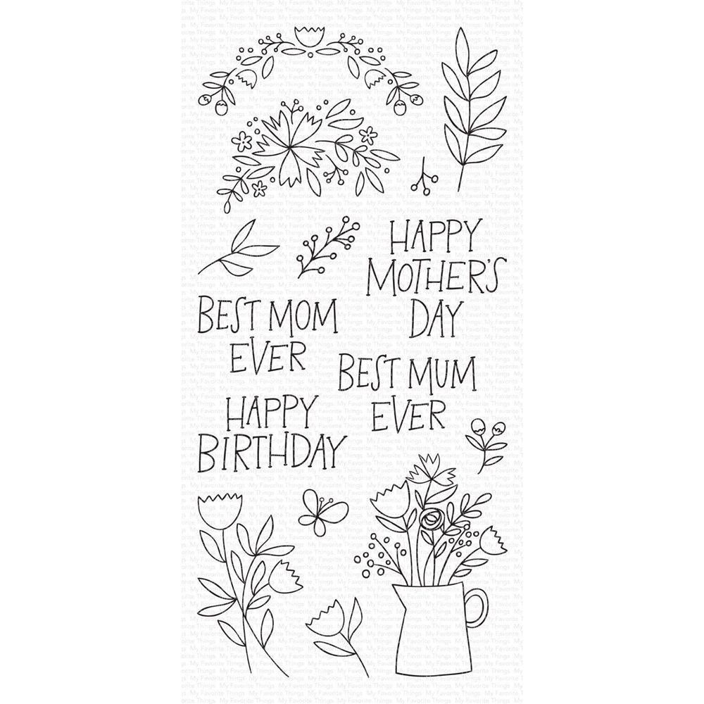 My Favorite Things MOTHER'S DAY BOUQUET Clear Stamps cs470 zoom image