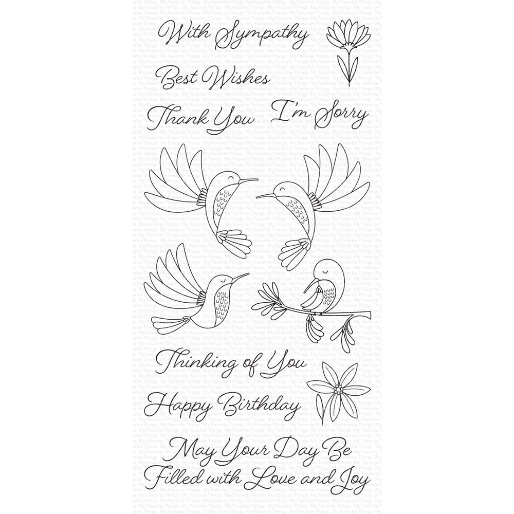 My Favorite Things HAPPY HUMMINGBIRDS Clear Stamps cs473 zoom image