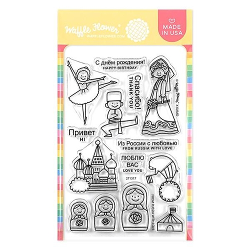 Waffle Flower FROM RUSSIA WITH LOVE Clear Stamps 271317 Preview Image