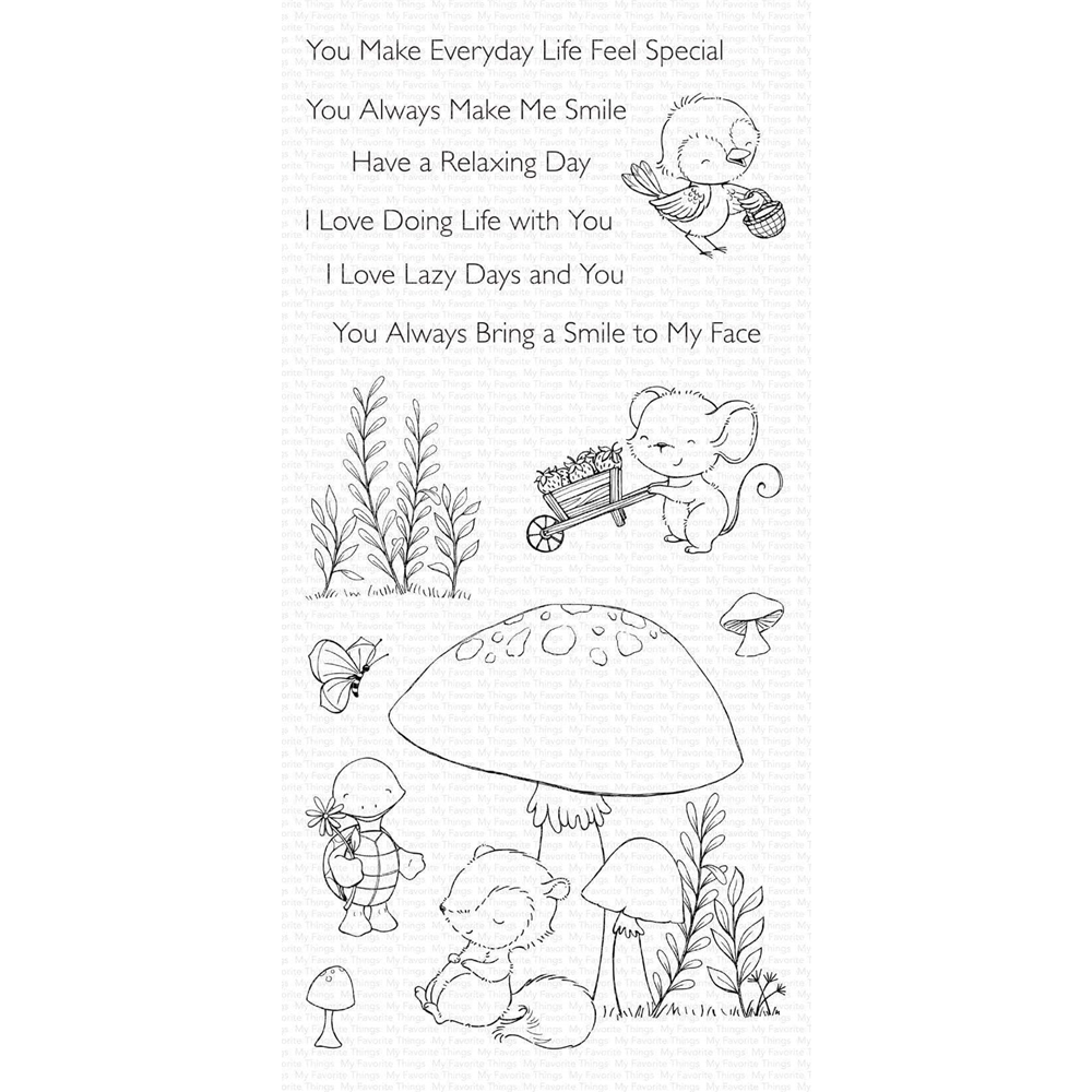 My Favorite Things ALWAYS BRING A SMILE Clear Stamps sy20 zoom image