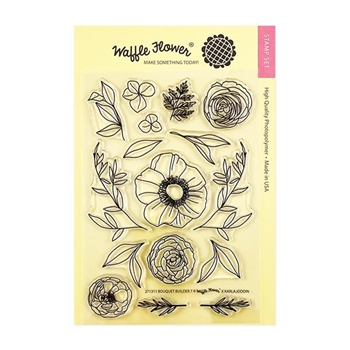 Waffle Flower BOUQUET BUILDER 7 Clear Stamps 271311