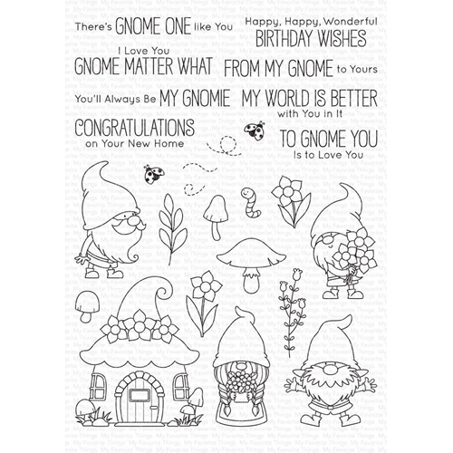 My Favorite Things HANGING WITH MY GNOMIES Clear Stamps bb101 Preview Image