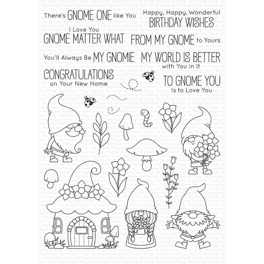 My Favorite Things HANGING WITH MY GNOMIES Clear Stamps bb101 zoom image