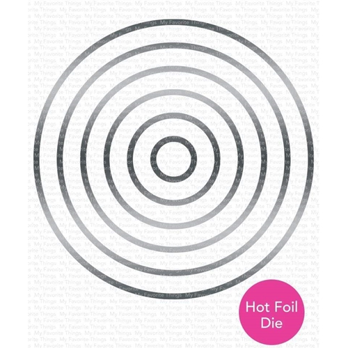 My Favorite Things CIRCLE FOILED FRAMES Metal Plate mft1735 Preview Image