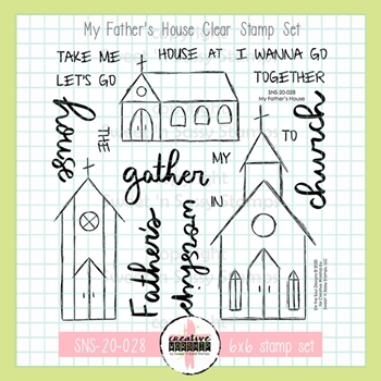 Sweet 'N Sassy MY FATHER'S HOUSE Clear Stamp Set sns20028