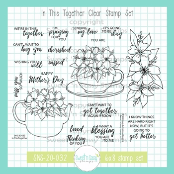 Sweet 'N Sassy IN THIS TOGETHER Clear Stamp Set sns20032