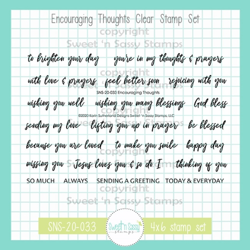 Sweet 'N Sassy ENCOURAGING THOUGHTS Clear Stamp Set sns20033 Preview Image
