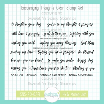 Sweet 'N Sassy ENCOURAGING THOUGHTS Clear Stamp Set sns20033