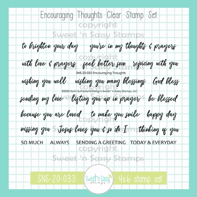 Sweet 'N Sassy ENCOURAGING THOUGHTS Clear Stamp Set sns20033 zoom image