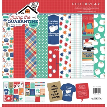 PhotoPlay LIVING THE QUARANTINE LIFE 12 x 12 Collection Pack qlf2280